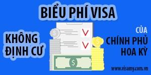 Biểu phí dịch vụ visa Mỹ không định cư